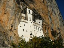 Monastero Ostrog fotografia stock libera da diritti
