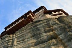 Monastero Roussanov, Meteora, Grecia Fotografie Stock Libere da Diritti
