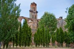 Monastero in rovine Immagine Stock