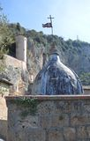Monastero S Benedetto in Subiaco, Italia Fotografia Stock Libera da Diritti