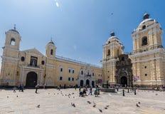 Monastero San Francisco Lima Peru Immagine Stock Libera da Diritti
