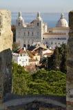 Monastero Sao Vicente de Fora, castello di Lisbona Fotografia Stock