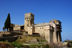 Monastero Stavronikita Immagini Stock
