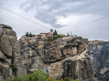 Monastero sulla roccia immagine stock