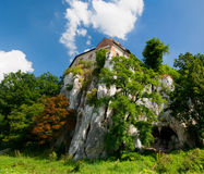 Monastero sulla roccia del calcare Fotografia Stock Libera da Diritti