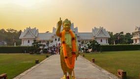 Monastero tailandese reale in Lumbini, Nepal fotografia stock libera da diritti