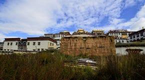 Monastero tibetano di Gedan Songzanlin, Shangri-La Fotografie Stock