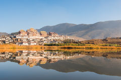 Monastero tibetano in Shangrila Fotografia Stock