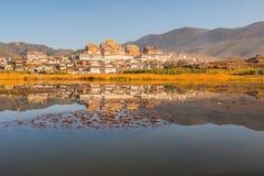 Monastero tibetano in Shangrila Fotografia Stock Libera da Diritti