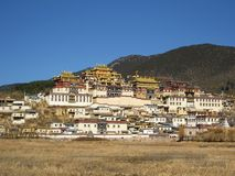 Monastero tibetano in Zhongdian Immagini Stock Libere da Diritti