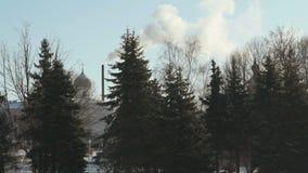 Monastero in Veliky Novgorod, Russia nell'inverno archivi video