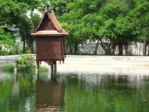 Monastero vernacolare del padiglione di legno tailandese Immagini Stock Libere da Diritti