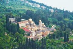 Monastero vicino al mare Fotografia Stock Libera da Diritti