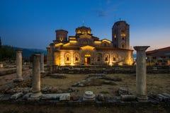 Monasteru świętego Panteleimon jezioro Ohrid Fotografia Royalty Free