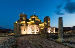 Monasteru świętego Panteleimon jezioro Ohrid Zdjęcie Royalty Free