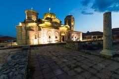Monasteru świętego Panteleimon jezioro Ohrid Obrazy Royalty Free