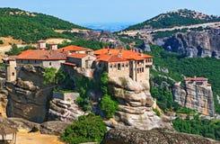 monasteru święty varlaam Trikala, Grecja obraz royalty free