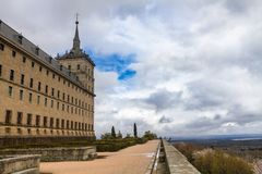Monasteru El Escorial ogródy fotografia royalty free