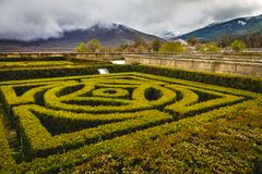 Monasteru El Escorial ogródy zdjęcia royalty free