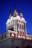 monasteru Moscow noc Obrazy Royalty Free