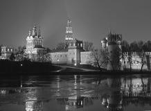 monasteru noc novodevichy widok Fotografia Stock