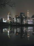 monasteru noc novodevichy widok zdjęcia royalty free