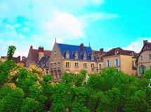 Monasteru Notre Damae ulica w Chartres w Eure et Loir dziale Loire dolina, Francja E zdjęcia royalty free