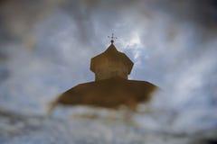 Monasteru odbicie w kałuży Zdjęcie Royalty Free