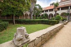 Monasteru podwórze przy Lokrum wyspą obraz stock