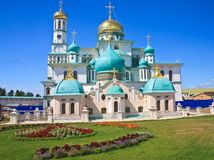 monasteru wielki murom Russia Nowy Jerozolimski monaster, Istra Obrazy Royalty Free