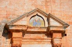 Monasteru wizerunku szczegół, Agia Triada Zdjęcia Royalty Free