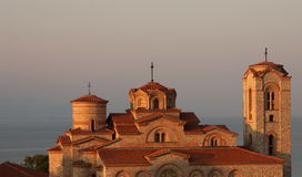 Monastery. Old Orthodox monastery bathed in morning light Stock Images