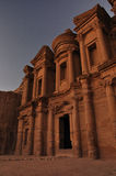 Monastery. The Monastery, Petra's largest monument, dates from the 1st century BCE. It was dedicated to Obodas I and is believed to be the symposium of Obodas Royalty Free Stock Photography