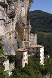Monastery. Called Madonna della Corona in Italy Royalty Free Stock Images