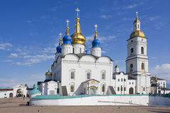 Monastery. Christian temple in Tobolsk in the summer Stock Images