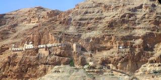 Monastery. In israelic desert near judaea Royalty Free Stock Photos