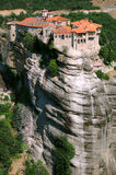 Monastery. Aerial view of a monastery in Meteora, Greece Stock Photography
