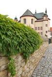 Monastery. It is way along the overgrown garden wall Stock Image