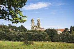 Monastery. Landscape with Sobrado Monastery in northern Spain Royalty Free Stock Photos