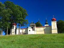 Monastery. Small monastery on the top of the hill Stock Photo