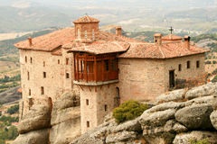 The monastery. A monastery from the meteoras at greece Royalty Free Stock Photo