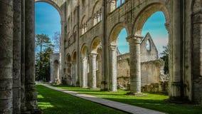 Monastery Abbaye de Jumièges/abadía de Jumièges en Normandía, Francia Imágenes de archivo libres de regalías