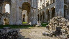 Monastery Abbaye de Jumièges/abadía de Jumièges en Normandía, Francia Foto de archivo libre de regalías