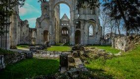 Monastery Abbaye de Jumièges/abadía de Jumièges en Normandía, Francia Imagen de archivo libre de regalías