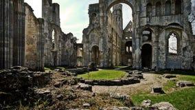 Monastery Abbaye de Jumièges/abadía de Jumièges en Normandía, Francia Fotos de archivo