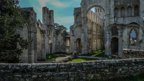 Monastery Abbaye de Jumièges / Jumièges Abbey in Normandy, France. Once considered one of the most beautiful monasteries in Europe, the Abbaye de Royalty Free Stock Photo