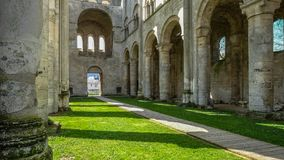 Monastery Abbaye de Jumièges / Jumièges Abbey in Normandy, France. Once considered one of the most beautiful monasteries in Europe, the Abbaye de Royalty Free Stock Photos