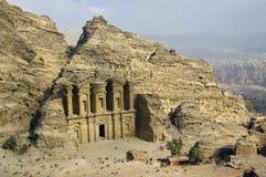 Monastery Ad-Deir in Petra, Jordan. Royalty Free Stock Image