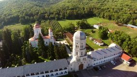 Monastery aerial view stock footage