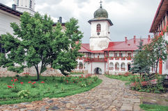 The Monastery Agapia, interior garden Royalty Free Stock Photography